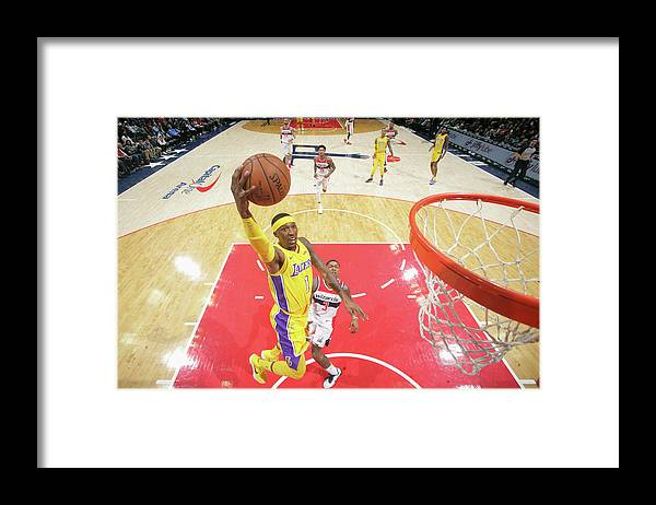 Nba Pro Basketball Framed Print featuring the photograph Kentavious Caldwell-pope by Ned Dishman