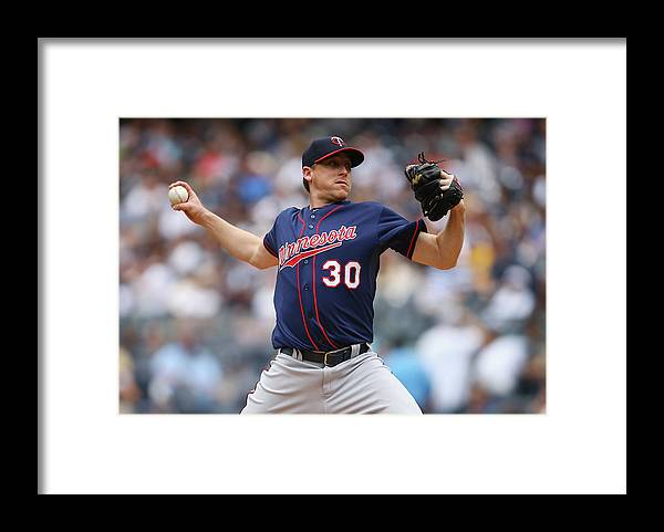 American League Baseball Framed Print featuring the photograph Kevin Correia by Al Bello