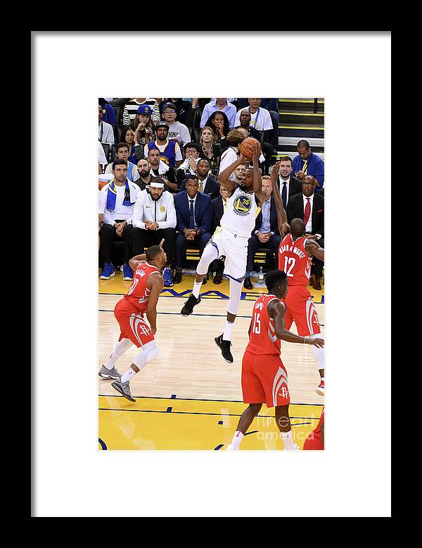 Nba Pro Basketball Framed Print featuring the photograph Kevin Durant by Adam Pantozzi
