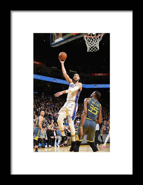 Nba Pro Basketball Framed Print featuring the photograph Kevin Durant and Ben Simmons by Noah Graham