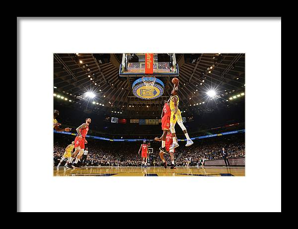 Nba Pro Basketball Framed Print featuring the photograph Kevin Durant and Clint Capela by Noah Graham