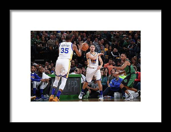 Nba Pro Basketball Framed Print featuring the photograph Kevin Durant and Klay Thompson by Brian Babineau
