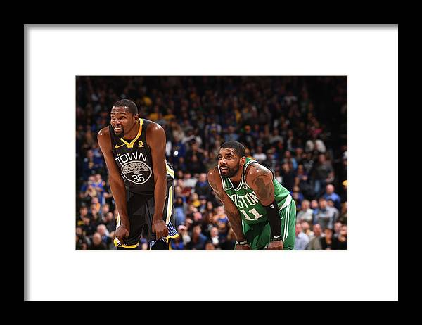 Nba Pro Basketball Framed Print featuring the photograph Kevin Durant and Kyrie Irving by Noah Graham