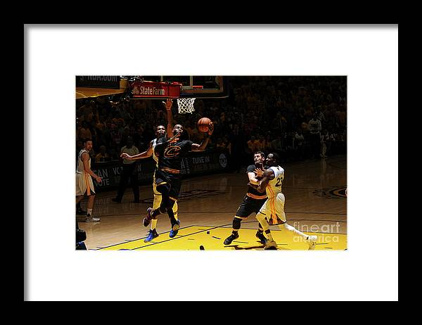 Playoffs Framed Print featuring the photograph Kevin Durant and Lebron James by Garrett Ellwood