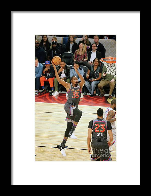 Event Framed Print featuring the photograph Kevin Durant by Bruce Yeung