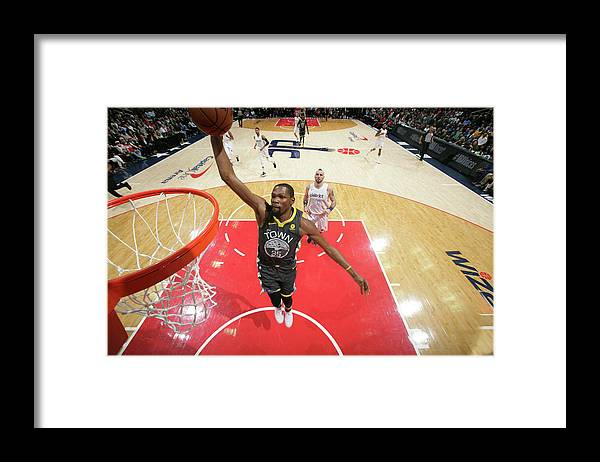 Nba Pro Basketball Framed Print featuring the photograph Kevin Durant by Ned Dishman