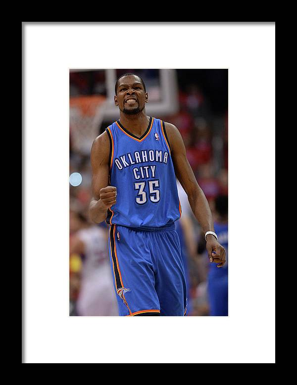 Playoffs Framed Print featuring the photograph Kevin Durant by Noah Graham
