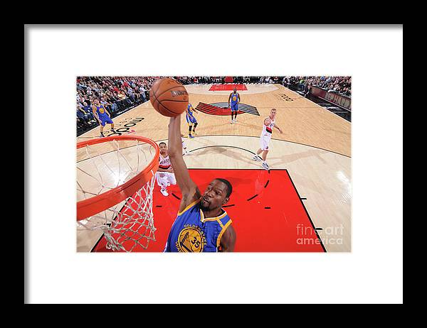 Nba Pro Basketball Framed Print featuring the photograph Kevin Durant by Sam Forencich
