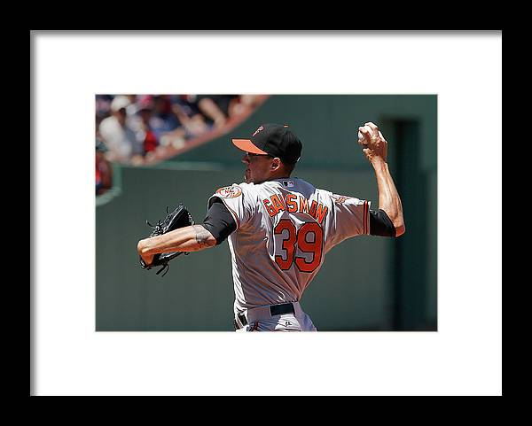 American League Baseball Framed Print featuring the photograph Kevin Gausman by Jim Rogash