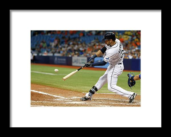 Ninth Inning Framed Print featuring the photograph Kevin Kiermaier by Brian Blanco