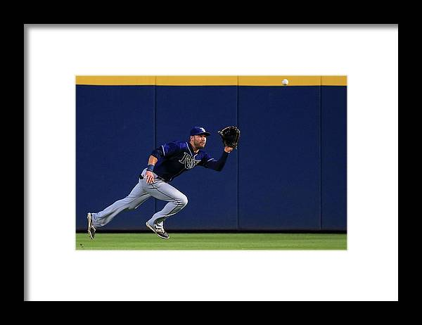 Atlanta Framed Print featuring the photograph Kevin Kiermaier by Daniel Shirey