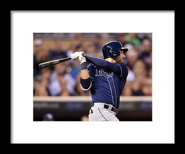 Three Quarter Length Framed Print featuring the photograph Kevin Kiermaier by Hannah Foslien
