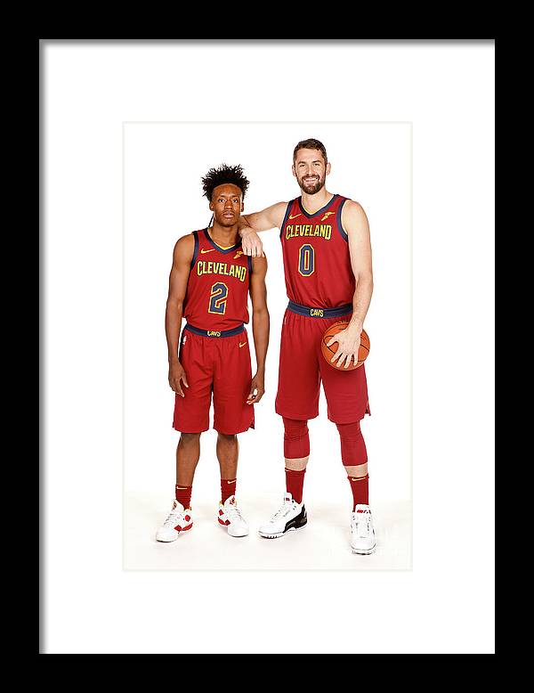 Media Day Framed Print featuring the photograph Kevin Love by Chris Marion