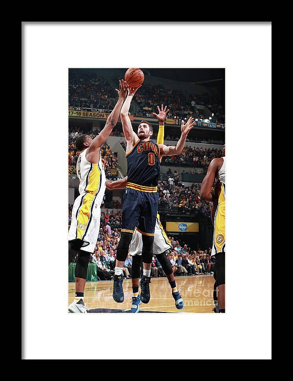Playoffs Framed Print featuring the photograph Kevin Love by Jeff Haynes