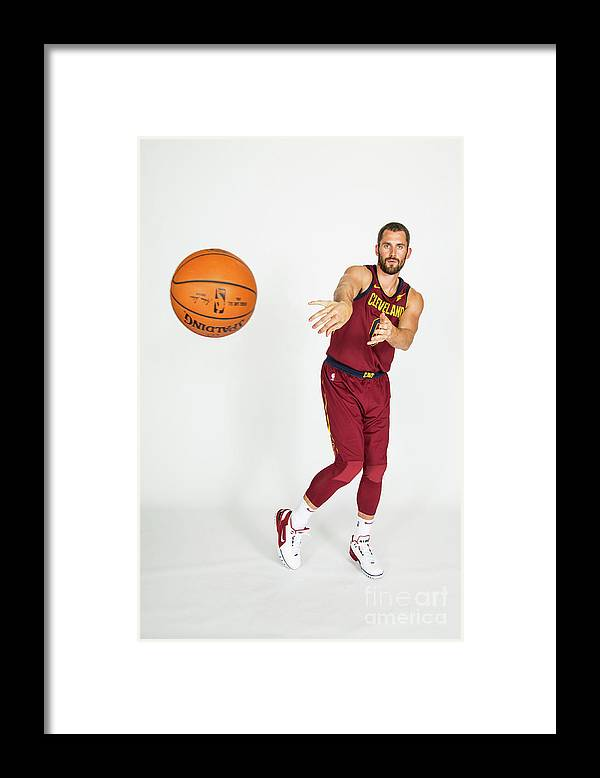 Media Day Framed Print featuring the photograph Kevin Love by Michael J. Lebrecht Ii