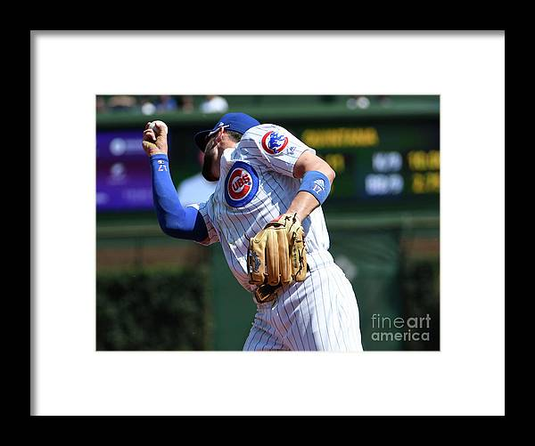 Second Inning Framed Print featuring the photograph Kevin Pillar and Kris Bryant by David Banks