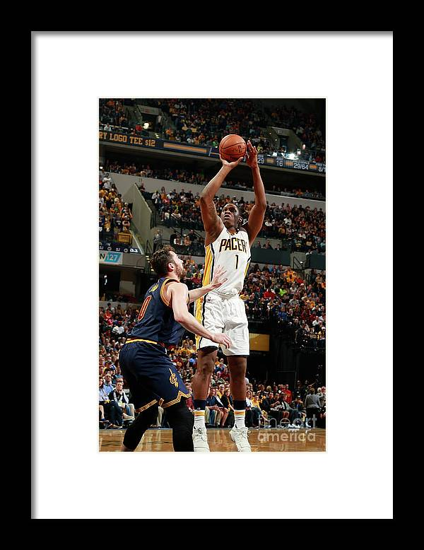 Playoffs Framed Print featuring the photograph Kevin Seraphin by Jeff Haynes