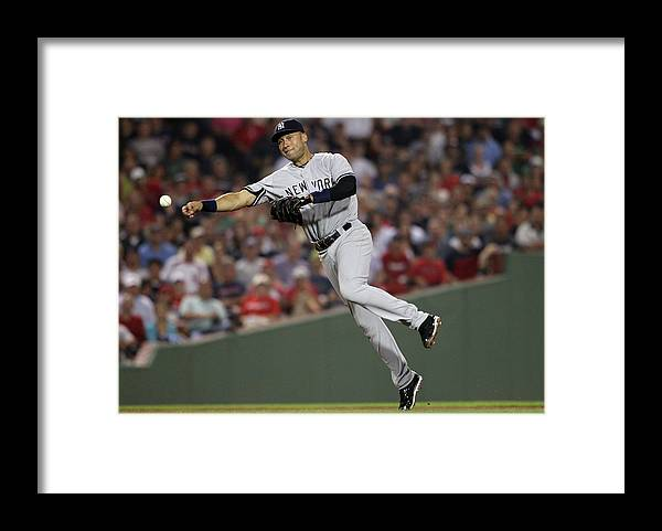 People Framed Print featuring the photograph Kevin Youkilis and Derek Jeter by Elsa