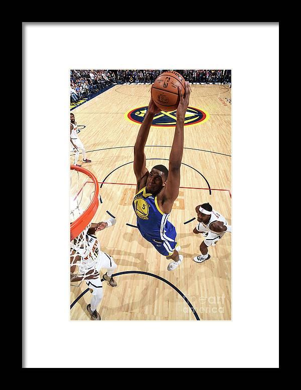 Nba Pro Basketball Framed Print featuring the photograph Kevon Looney by Garrett Ellwood