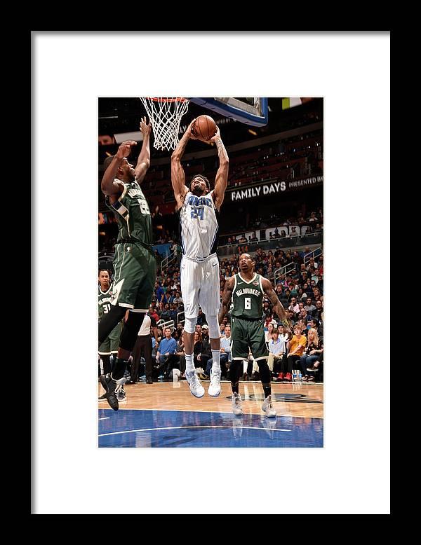 Nba Pro Basketball Framed Print featuring the photograph Khem Birch by Gary Bassing