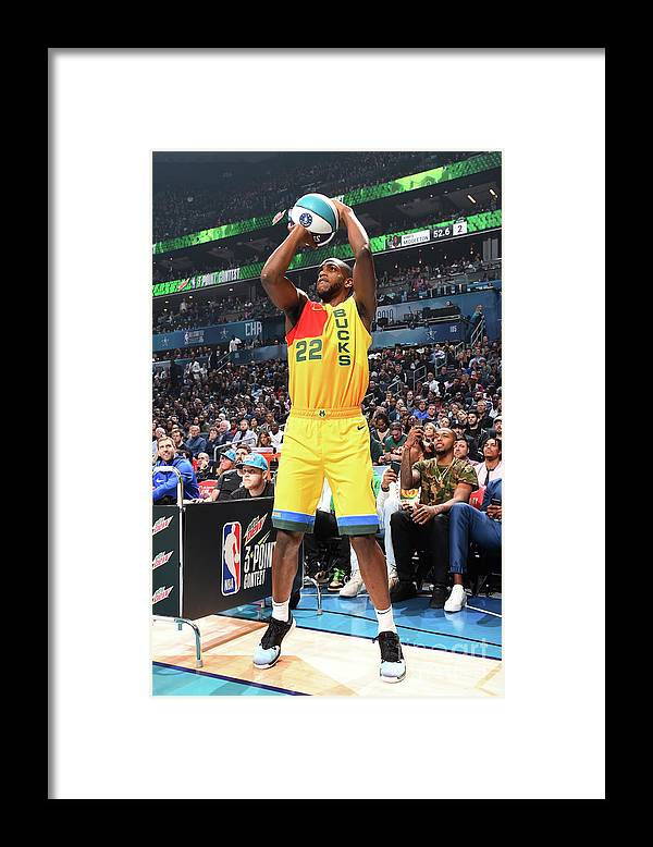 Nba Pro Basketball Framed Print featuring the photograph Khris Middleton by Andrew D. Bernstein