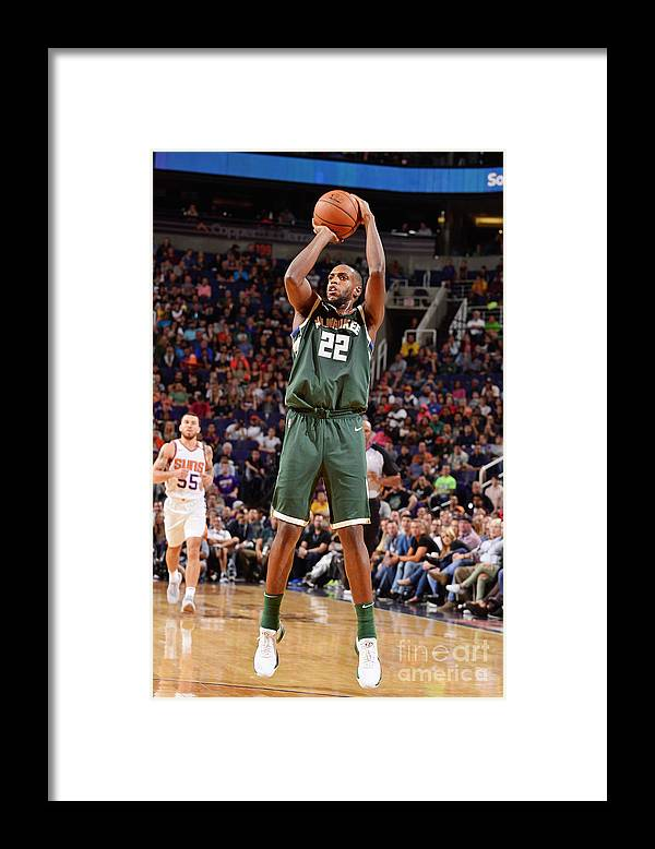 Nba Pro Basketball Framed Print featuring the photograph Khris Middleton by Barry Gossage