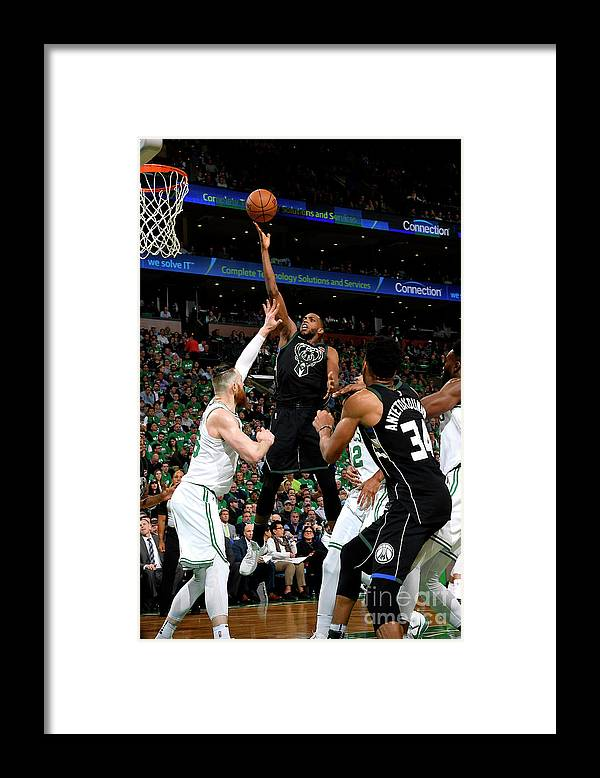 Playoffs Framed Print featuring the photograph Khris Middleton by Brian Babineau
