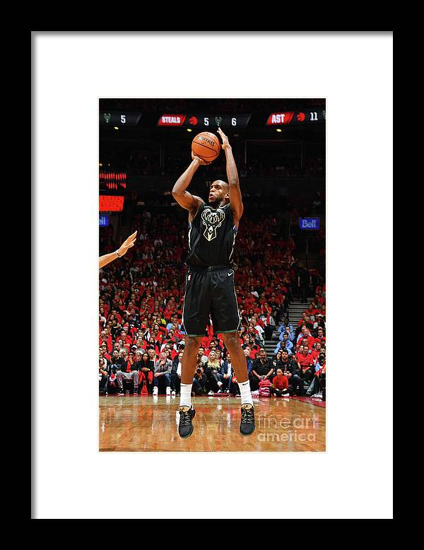 Nba Pro Basketball Framed Print featuring the photograph Khris Middleton by Jesse D. Garrabrant