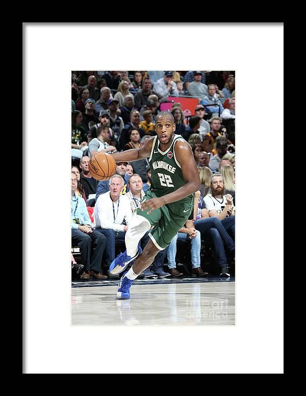 Nba Pro Basketball Framed Print featuring the photograph Khris Middleton by Melissa Majchrzak