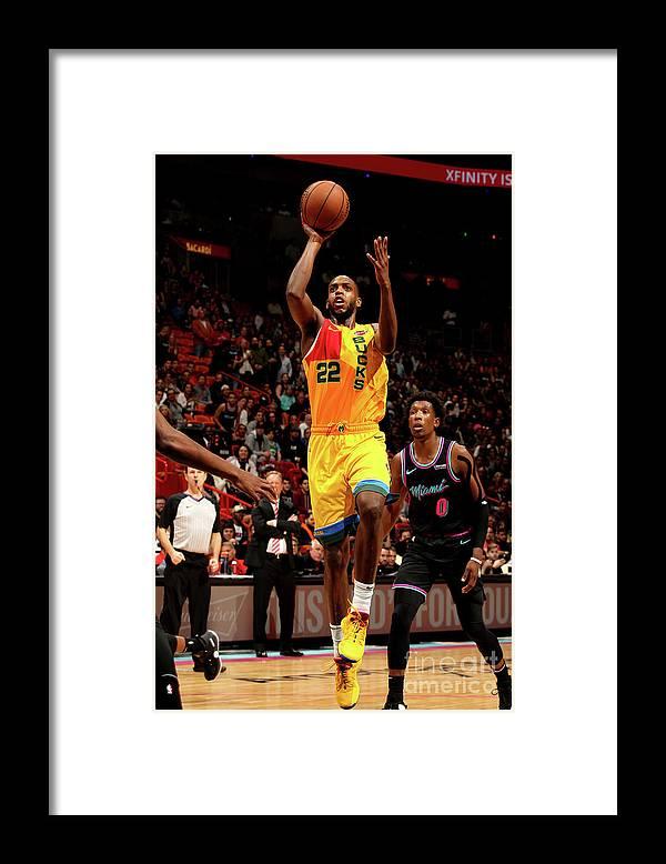 Nba Pro Basketball Framed Print featuring the photograph Khris Middleton by Oscar Baldizon