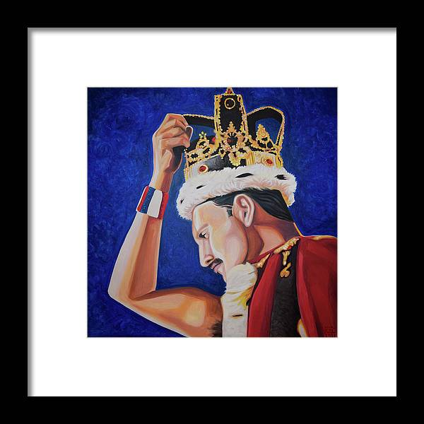 Freddie Mercury Framed Print featuring the painting Killer Queen by Nick San Pedro