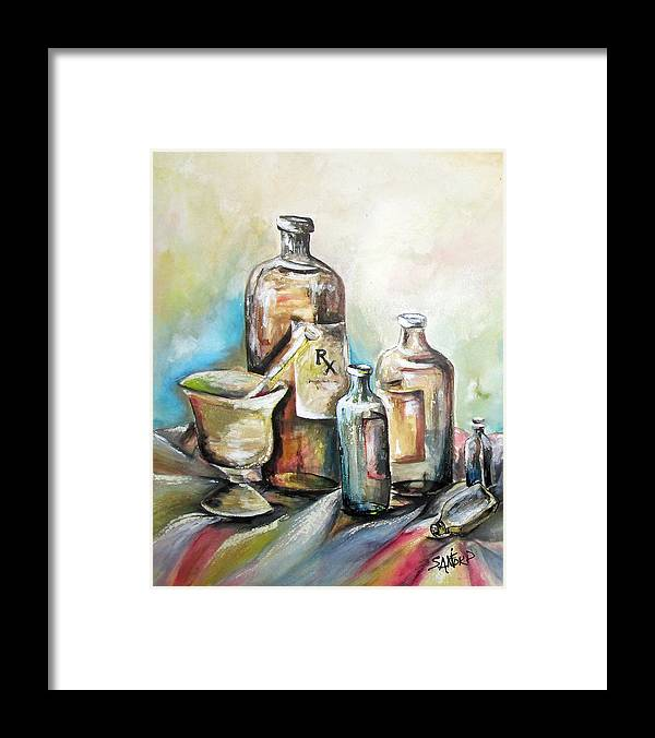 Pharmaceuticals Framed Print featuring the painting Kindered Spirits SOLD by Amanda Sanford