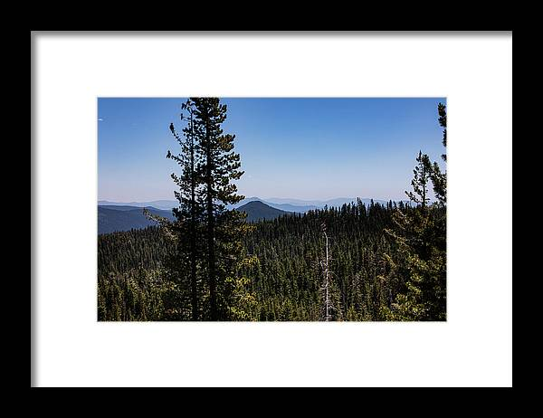 Mountains Framed Print featuring the photograph Kings Creek Falls trail vista by John Heywood