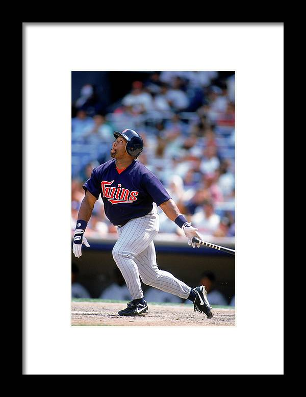 American League Baseball Framed Print featuring the photograph Kirby Puckett by Rich Pilling