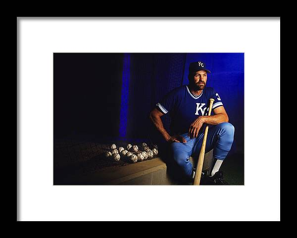 American League Baseball Framed Print featuring the photograph Kirk Gibson by Ronald C. Modra/sports Imagery