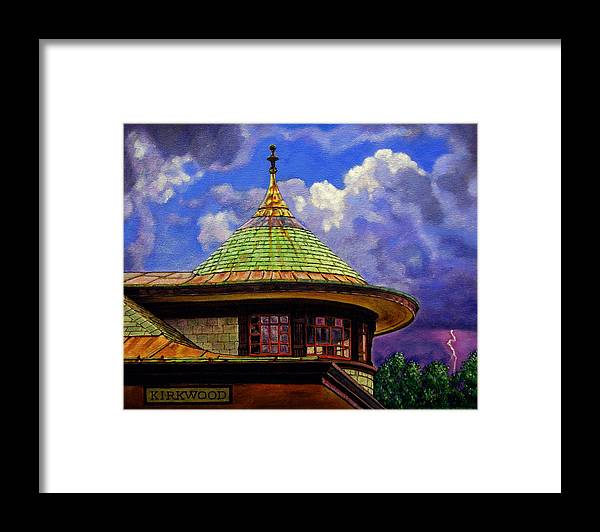 Kirkwood Framed Print featuring the painting Kirkwood Train Station by John Lautermilch