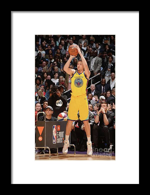 Event Framed Print featuring the photograph Klay Thompson by Andrew D. Bernstein