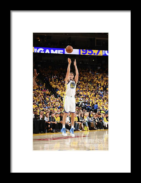 Playoffs Framed Print featuring the photograph Klay Thompson by Garrett Ellwood
