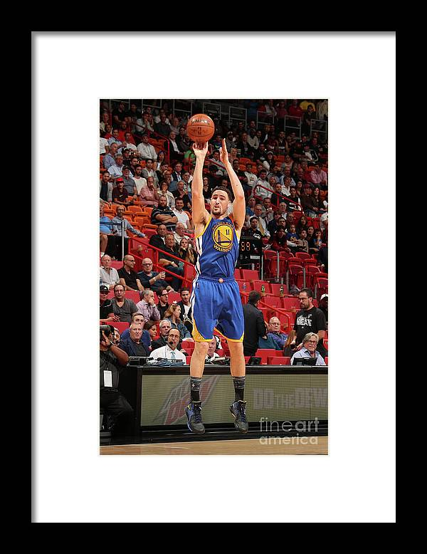 Nba Pro Basketball Framed Print featuring the photograph Klay Thompson by Issac Baldizon