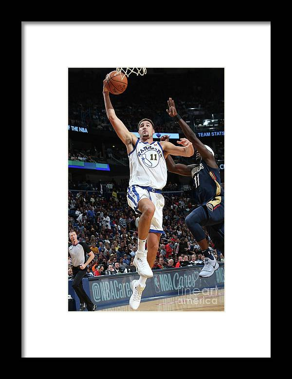 Smoothie King Center Framed Print featuring the photograph Klay Thompson by Layne Murdoch