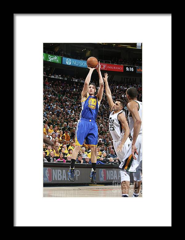 Playoffs Framed Print featuring the photograph Klay Thompson by Melissa Majchrzak