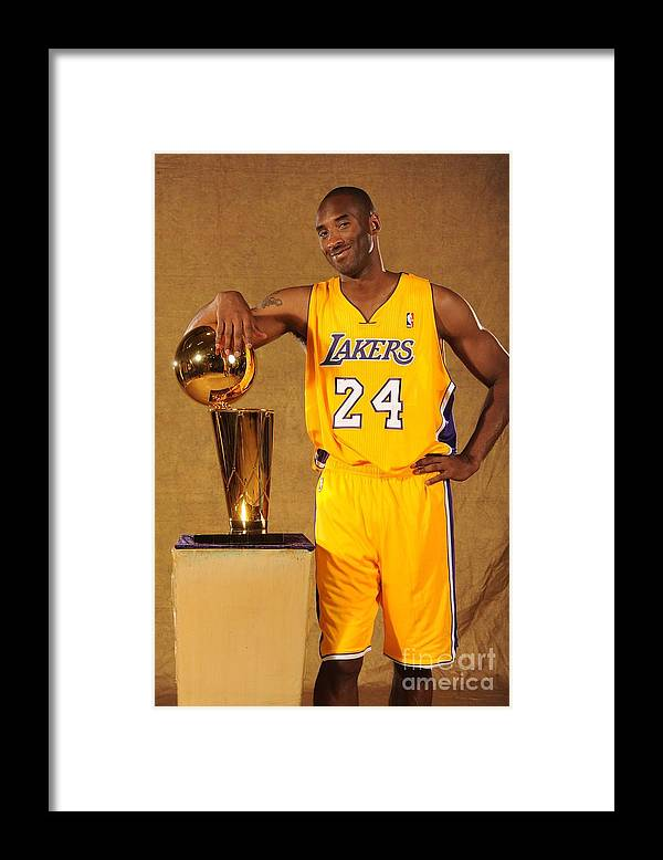 Media Day Framed Print featuring the photograph Kobe Bryant by Andrew D. Bernstein