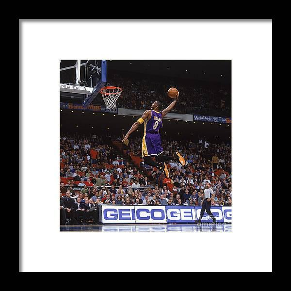 Nba Pro Basketball Framed Print featuring the photograph Kobe Bryant by Fernando Medina