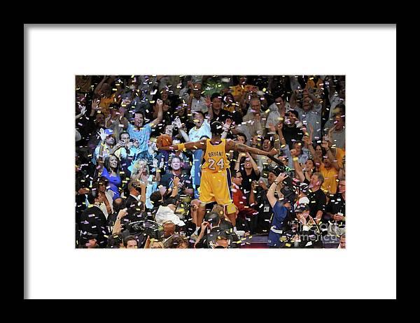 Playoffs Framed Print featuring the photograph Kobe Bryant by Garrett Ellwood