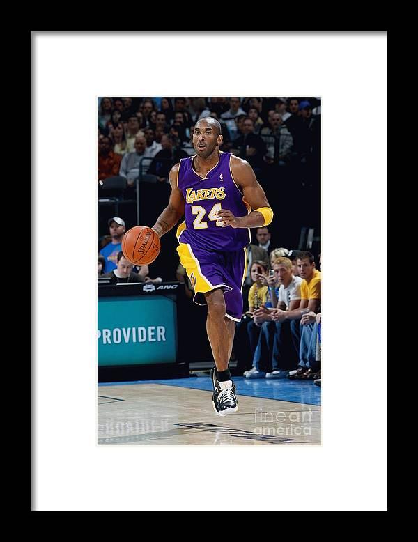 Nba Pro Basketball Framed Print featuring the photograph Kobe Bryant by Layne Murdoch