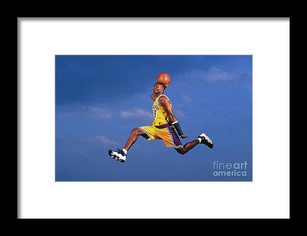 Event Framed Print featuring the photograph Kobe Bryant by Walter Iooss Jr.