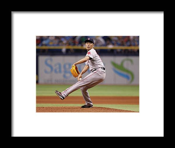 Ninth Inning Framed Print featuring the photograph Koji Uehara by Brian Blanco