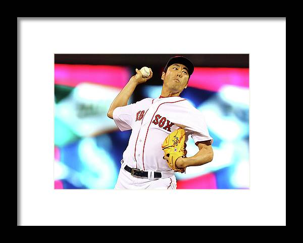 American League Baseball Framed Print featuring the photograph Koji Uehara by Elsa