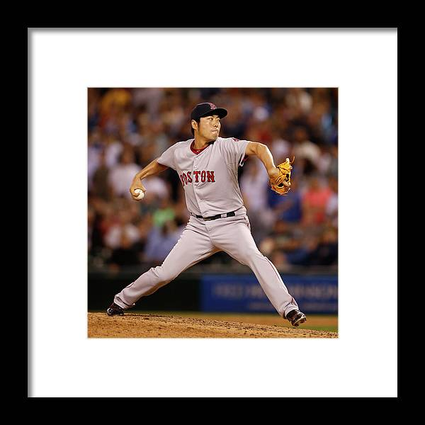 Ninth Inning Framed Print featuring the photograph Koji Uehara by Otto Greule Jr