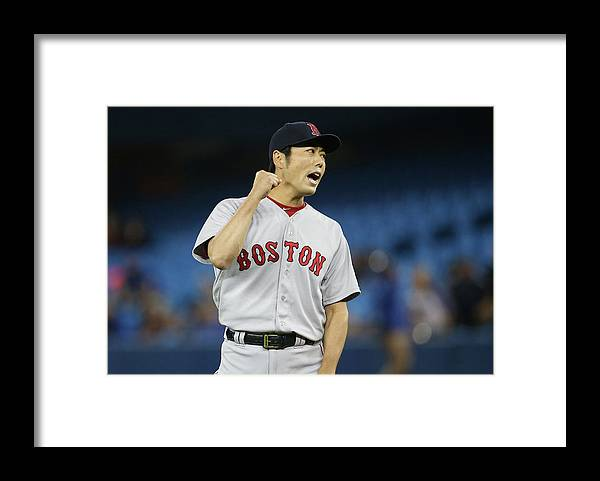 Ninth Inning Framed Print featuring the photograph Koji Uehara by Tom Szczerbowski